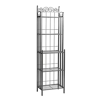 SEI Celtic Gunmetal Bakers Rack, Gray