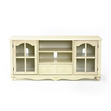 SEI Rubberwood/MDF Coventry Large TV Console, Antique White