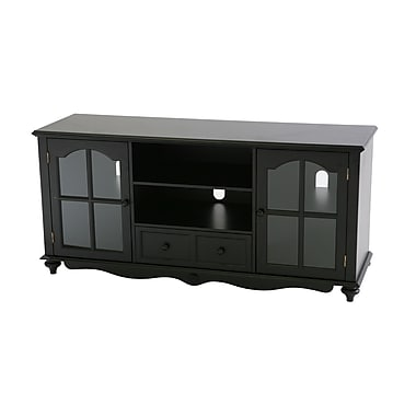 SEI Rubberwood/MDF Coventry Large TV Console, Antique Black