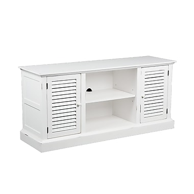 SEI Antebellum Rubberwood/MDF Media Stand, Antique White