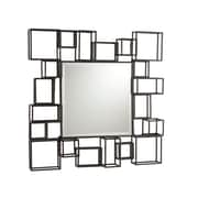 SEI 32H x 32 1/4W Decorative Wall Mirror, Espresso