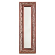 SEI 32 x 5 Medina Decorative Mirror, Aged Red/Silver