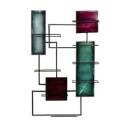 """SEI 38 1/2""""H x 24""""W x 4""""D Metal Wine Storage Wall Sculpture, Black"""