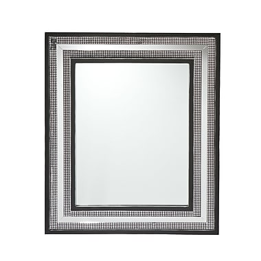 SEI 16 1/2in. x 20 1/2in. Franklin Decorative Wall Mirror, Black/Silver