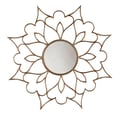 SEI 9 1/4in. Petal Decorative Mirror, Bronze