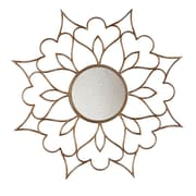 SEI 9 1/4 Petal Decorative Mirror, Bronze