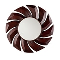 SEI 14in. Nala Decorative Mirror, Rust Red