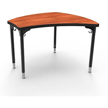 Balt Black Legs/Edgeband Small Shapes Desks Without Book Box