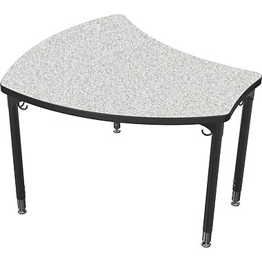 Balt Black Legs/Edgeband Small Shapes Desk Without Book Box, Gray Nebula