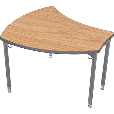 Balt Platinum Legs/Edgeband Small Shapes Desk Without Book Box, Castle Oak