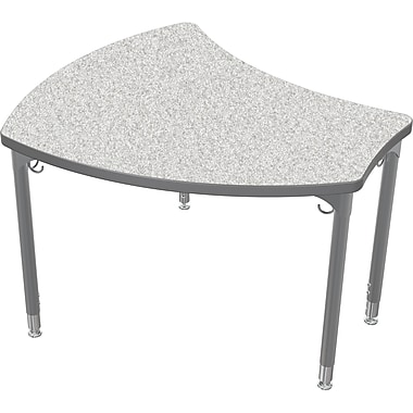 Balt Platinum Legs/Edgeband Small Shapes Desk Without Book Box, Gray Nebula