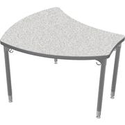 Balt Platinum Legs/Edgeband Small Shapes Desk Without Book Box, Gray Nebula