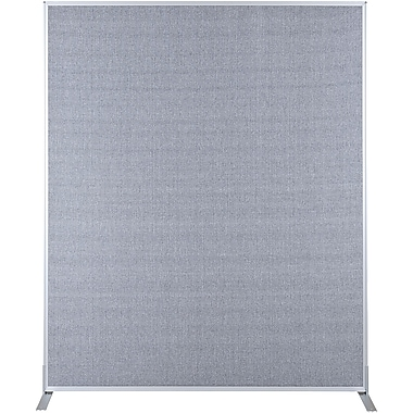 Best-Rite Fabric Standard Modular Panel, 6' x 5', Gray