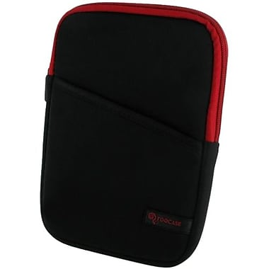 rOOCASE Super Bubble Neoprene Sleeve Case For 7in. iPad Mini, Black/Red