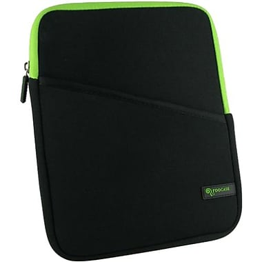 rOOCASE Super Bubble Neoprene Sleeve Case For 7in. iPad Mini, Black/Green