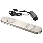 AmerTac™ 12 LED High Performance Plug-in Puck Under Cabinet Light Bar, Satin Nickel