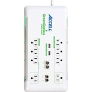 Accell® GreenGenius® White 8-Outlet 2160 Joule Smart Surge Protector With 6' Cord