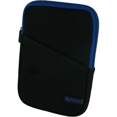 rOOCASE Super Bubble Neoprene Sleeve Case For 7in. iPad Mini, Black/Dark Blue