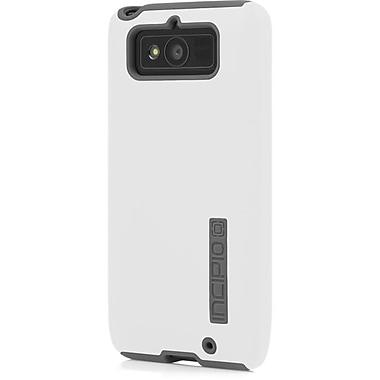 Incipio® DualPro Hard Shell Case For Motorola Droid Mini, White/Charcoal Gray