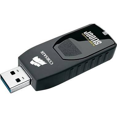 Corsair® Flash Voyager Slider USB 3.0 32GB USB Drive, Black