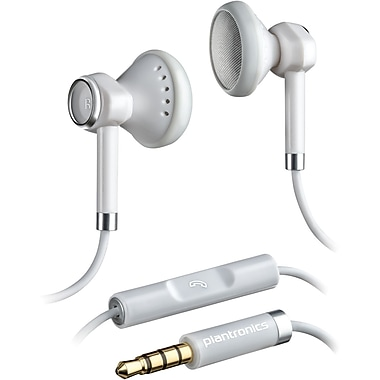 Plantronics® BackBeat 116 In-Ear Binaural Headset, White