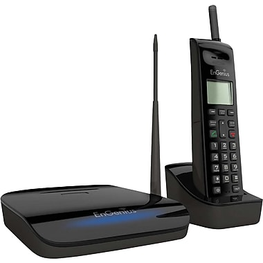 EnGenius FREESTYL 2 Single Line Cordless Extreme Range Scalable Cordless Phone System, Black