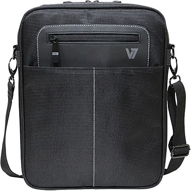 V7® Cityline CMX3-9N Messenger Bag For All iPads and 10.1in. Tablet PC, Black