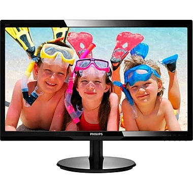 Philips 246V5LHAB V-line 24in. LED Back-lit LCD Monitor With SmartControl Lite, Glossy Black