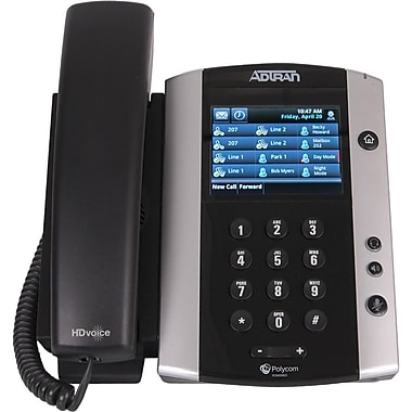 Adtran® 1202855G1 VVX 500 IP Cable Phone, Black