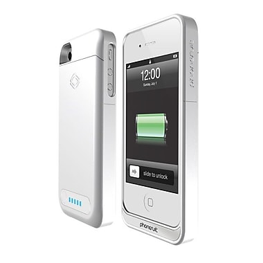 PhoneSuit PS-ELITE-IP4 Elite Battery Case For iPhone 4/4S, White