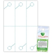 """Blanks/USA® 4"""" x 9"""" 215 GSM Digital Smooth Cover Door Hangers, White, 600/Pack"""