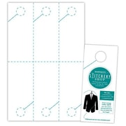 """Blanks/USA® 3.67"""" x 8 1/2"""" 215 GSM Digital Smooth Cover Door Hangers, White, 1500/Pack"""