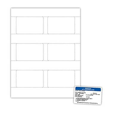 Blanks/USA® 3 3/8in. x 2 1/8in. 7 mil Digital Polyester ID Card, White, 60/Pack