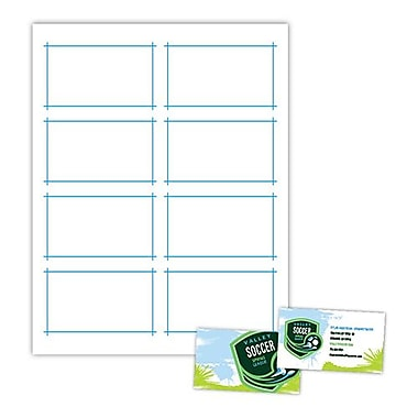 Blanks/USA® 3 1/2in. x 2in. Two-Sided Clean-Edge 10 Point Gloss Business Card, White, 800/Pack