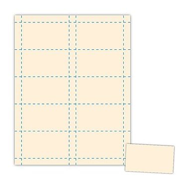 Blanks/USA® 3 1/2in. x 2in. 90 lbs. Index Business Card, Ivory, 500/Pack