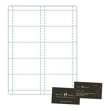 Blanks/USA® 3 1/2in. x 2in. 90 lbs. Index Business Card, White, 500/Pack