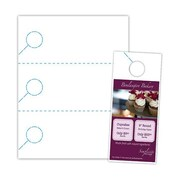 "Blanks/USA® 3.67"" x 8 1/2"" 200 GSM Digital Polyester Door Hangers, White, 30/Pack"