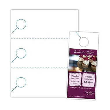 Blanks/USA® 3.67in. x 8 1/2in. 200 GSM Digital Polyester Door Hangers, White, 150/Pack