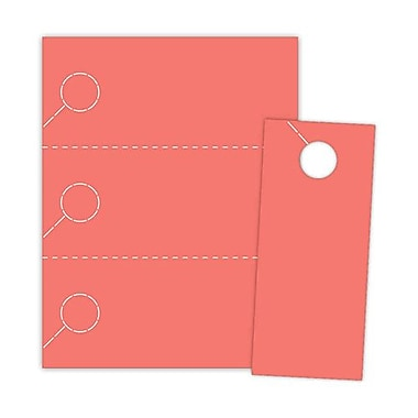 Blanks/USA® 3.67in. x 8 1/2in. 174 GSM Digital Cover Door Hangers, Red, 150/Pack