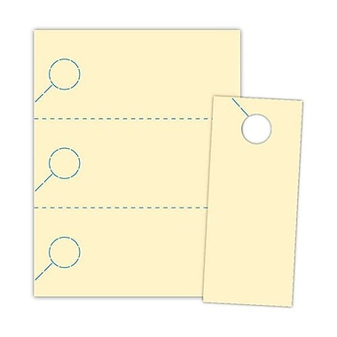 Blanks/USA® 3.67in. x 8 1/2in. 174 GSM Digital Cover Door Hangers, Ivory, 1000/Pack