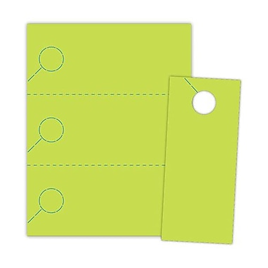 Blanks/USA® 3.67in. x 8 1/2in. 174 GSM Spring Digital Cover Door Hangers, Green, 1000/Pack