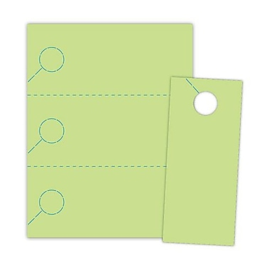 Blanks/USA® 3.67in. x 8 1/2in. 174 GSM Vulcan Digital Cover Door Hangers, Green, 1000/Pack