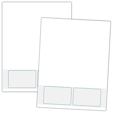 Blanks/USA® 3 3/8in. x 2 1/8in. 28 lbs. 2 Ledger ID Card, White, 250/Pack