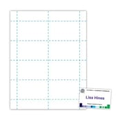 "Blanks/USA® 3 1/2"" x 2 3/16"" Digital Name Tag, White, 400/Pack"