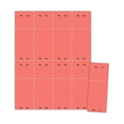 "Blanks/USA® 2 1/8"" x 5 1/2"" Numbered 01-400 Digital Cover Raffle Ticket, Red, 400/Pack"