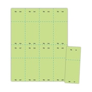 "Blanks/USA® 50/Pack 2 1/8"" x 5 1/2"" Numbered 01-400 Digital Cover Raffle Tickets"