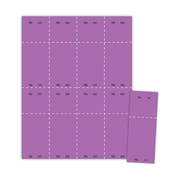 "Blanks/USA® 2 1/8"" x 5 1/2"" Numbered 01-400 Digital Cover Raffle Ticket, Purple, 400/Pack"