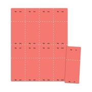 "Blanks/USA® 2 1/8"" x 5 1/2"" Numbered 01-1000 Digital Cover Raffle Ticket, Red, 1000/Pack"