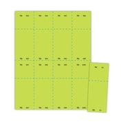 """Blanks/USA® 2 1/8"""" x 5 1/2"""" Numbered 01-1000 Digital Cover Raffle Ticket, Green, 1000/Pack"""
