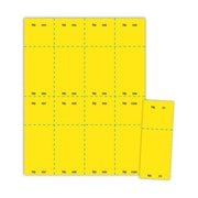 "Blanks/USA® 2 1/8"" x 5 1/2"" Numbered 01-1000 Digital Cover Raffle Ticket, Yellow, 1000/Pack"